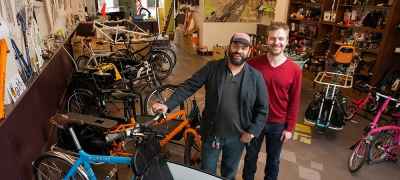 Davey Oil and Tyler GIllies of G and O Family Cyclery