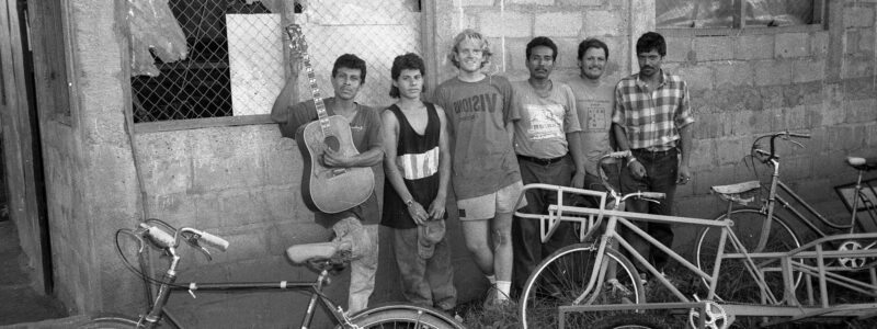 Xtracycle founder Ross Evans in Nicaragua in 1995