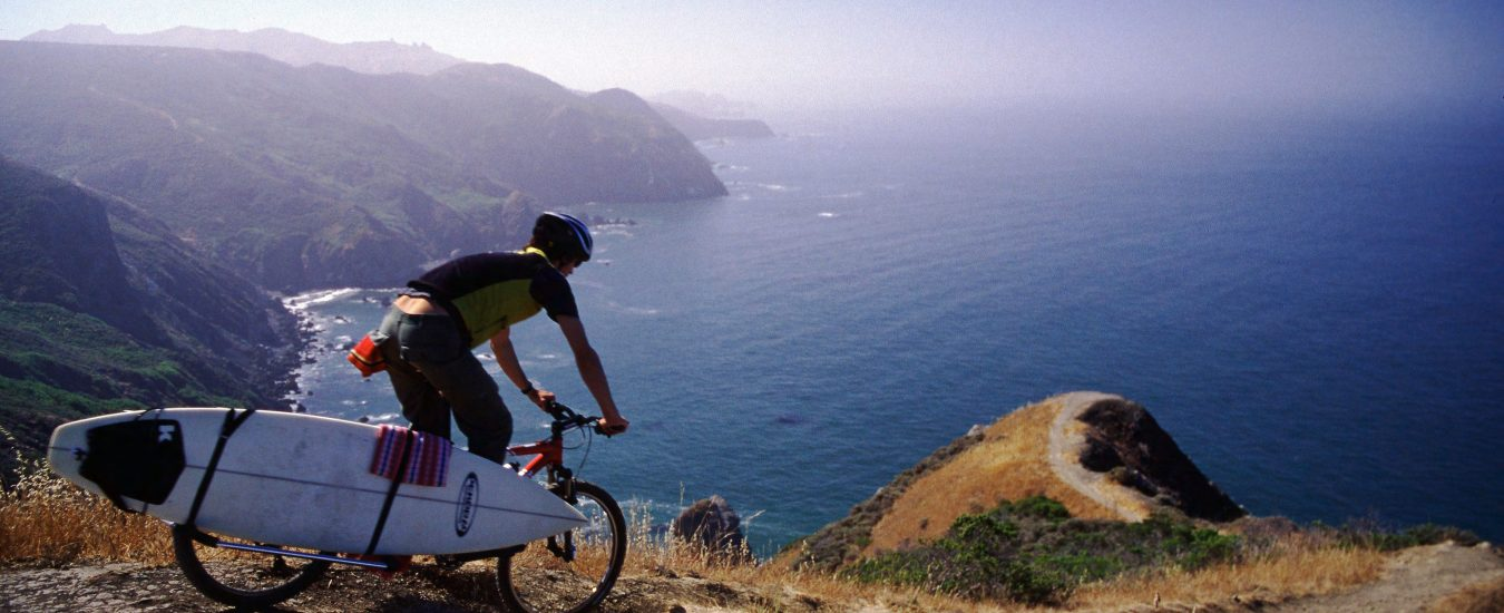 xtracycle scenic surfboard cargo biking adventure