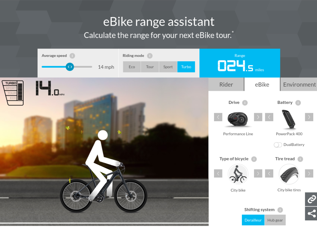 Range Assistant Calculator for Ebikes from Bosch - Xtracycle