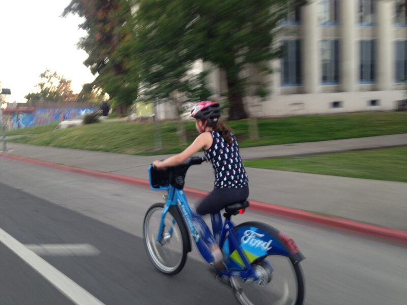kid on ford gobike