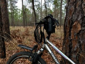 diy handlebar binocular holder